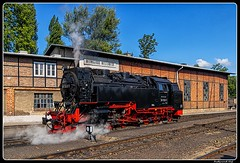 Image by ferdahejl (ferdinand_hejl) and image name HSB_BR 99 7243-1_Bhf. Wernigerode Westerntor_Sachsen-Anhalt_DE photo  about The Harz Railway or Trans-Harz Railway (German: Harzquerbahn) was formerly the main line of the Harz Narrow  Schmalspurbahnen or HSB) and runs north to south right across the Harz Mountains from Wernigerode to Nordhausen. However, the tourist attraction of the Brocken, the highest mountain in the Ha