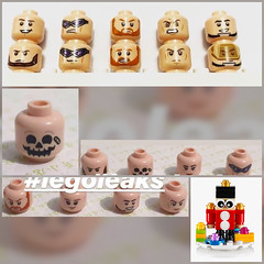Image by LegoDad42 (51289111@N05) and image name New Lego peekies... photo  about Lower right new Xmas bauble ornament build?