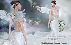 Image by ✿ ¸.•✿*♥ Celestinas Wedding♥*✿•.¸  (celestinascouture) and image name Celestinas Kayrah Weddings Dress Set Poster 2019 Ultimo photo