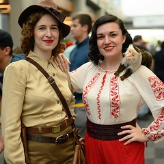 Image by Coach Ota (dgaxiola) and image name Indy and Marion at Silicon Valley Comic-Con on Saturday. More SVCC pics at flic.kr/s/aHsmGiBKAX #svcc #svcc2019 #cosplay #raidersofthelostark #indianajones #marionravenwood #indianajonescosplay photo  about View on Instagram ift.tt/2Mszdx6