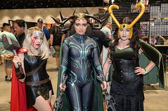 Image by Coach Ota (dgaxiola) and image name Uh oh, Ragnarok began at Silicon Valley Comic-Con on Saturday! More pics from SVCC at flic.kr/s/aHsmGiBKAX #svcc #svcc2019 #cosplay #marvel #marvelcosplay #thor #loki #hela #thorragnarok #thorcosplay #helacosplay #lokicosplay photo  about View on Instagram ift.tt/31Oyjyk