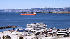 Image by Steven P. Moreno (magi48) and image name San Francisco Waterfront photo  about A view over the waterfront to the San Francisco Bay.
