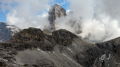 Image by NiBe60 (162684392@N05) and image name Sexten-228 photo  about Summit of the Zwölferkofel (3094 m) seen from the Büllelejoch in the Sextiner Dolomites (Italy).