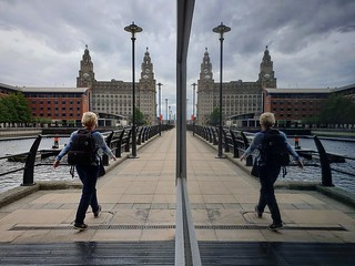 Liver Building - Window Reflection