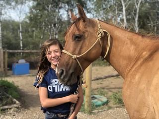 She likes horse camp.....