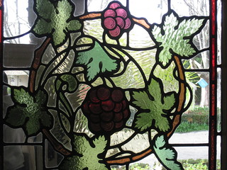 "Detail of an Art Nouveau Stained Glass Window in the Entrance Hall of ""The Gables"" Queen Anne Villa - Finch Street, East Malvern"