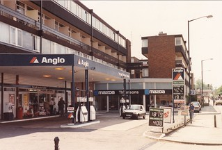 Anglo - Portmill Service Station, Hitchin, Hertfordshire 1989