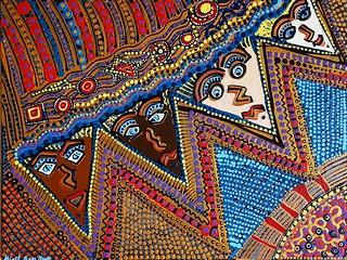 Obra de arte ethnica artista israeli latina Mirit Ben-Nun