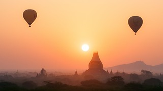 Baloons over Bagan Temples