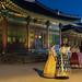 Hanbok wearers at Deoksugung Palace