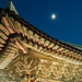 Roof detail and moon