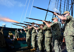 Chief petty officer selects, Sailors who have been selected for the paygrade of E-7, come together for Chief Heritage weeks aboard the oldest commissioned warship afloat in the world, USS Constitution.