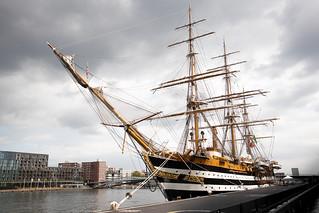 Italian sailing ship Amerigo Vespucci.