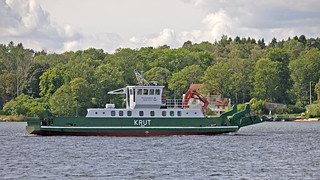 The ferry / work boat Krut in Stockholm