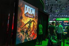 Werbeplakat für die Egoshooter-Reihe Doom: Eternal
