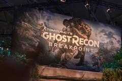 Tom Clancy's Ghost Recon Breakpoint - Plakat auf der Videospielmesse