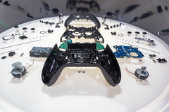 Inner workings of Elite 2 Series game controller, disassembled into individual parts