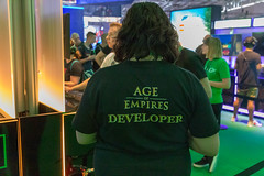Age of Empires Developer printed on a shirt
