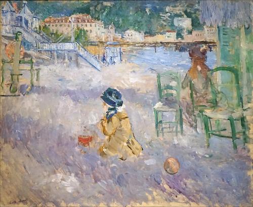 Plage de Nice de Berthe Morisot (Musée d'Orsay, Paris)
