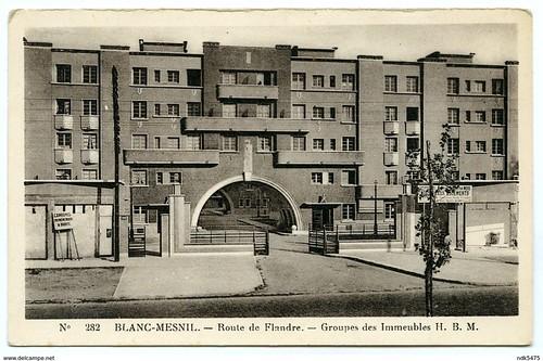 93 BLANC-MESNIL - ROUTE DE FLANDRE - GROUPES DES IMMEUBLES H. B. M.