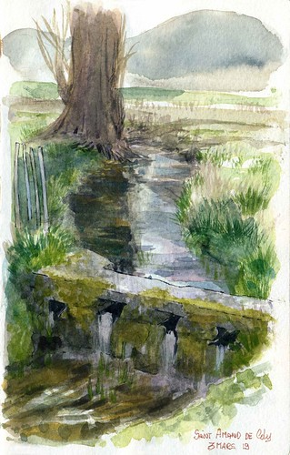 St Amand de Coly , le nez dans le ruisseau