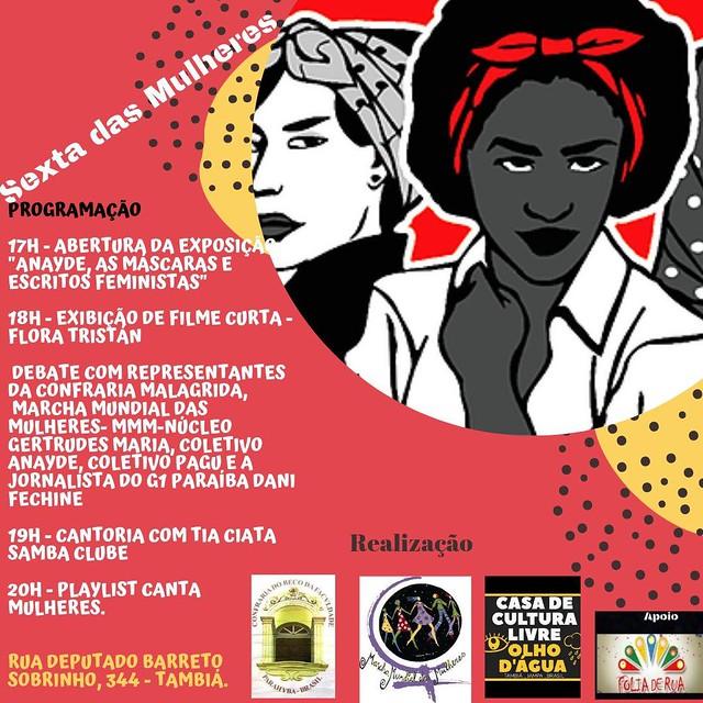 O evento acontece nesta sexta (23), na Casa de Cultura Livre Olho D´Água, na Rua Deputado Barreto Sobrinho, 344, em Tambiá, João Pessoa. - Créditos: Reprodução