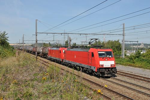 DB Cargo Nederland 186 338 + 186 333 Visé 22.08.2019