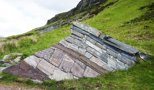 Moine Thrust layered sculpture - North West Highlands Geopark