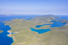 Luftbild vom Nationalpark Mljet in Kroatien