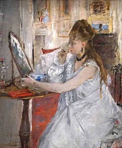 Jeune Femme se poudrant de Berthe Morisot (Musée d'Orsay, Paris)