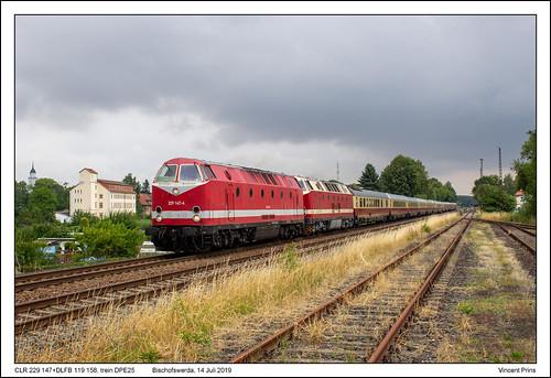 CLR 229 147+DLFB 119 158 - Bischofswerda - DPE25 (14-07-2019)