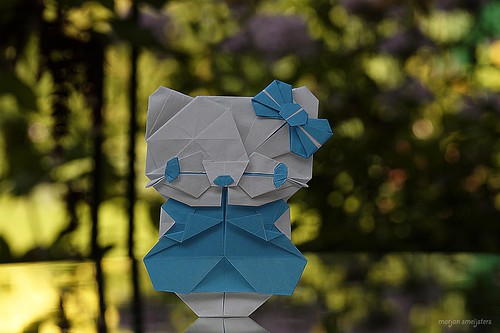 Origami Ribbon Kitty (Michelle Fung)