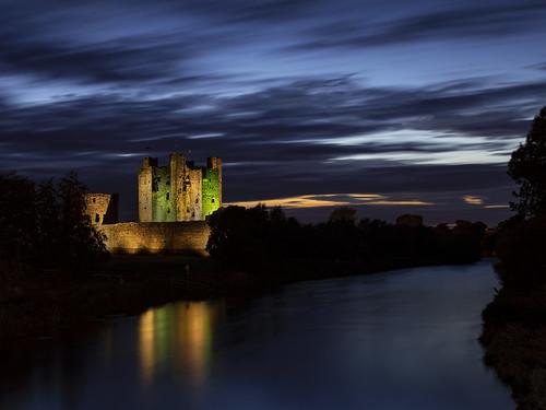 Trim Castle by night