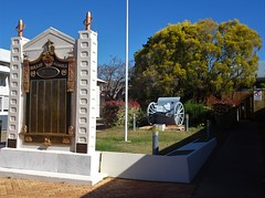 Gayndah Queensland. The War Memorial and roll of honour for the soldiers and service people of the district.