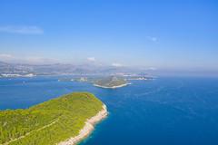 A view to the Koločep island in Croatia