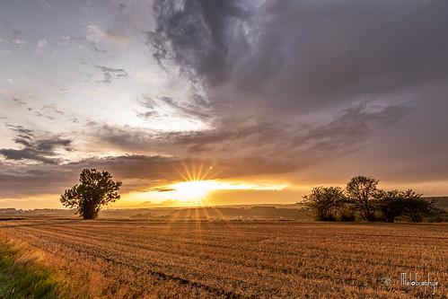 Coucher de soleil après un orage