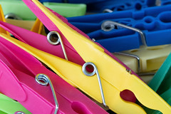 Colorful laundry clips