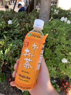 Hojicha in der Flasche
