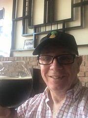 Larry with a Black IPA at Smoketown Brewing Station in Brunswick Maryland