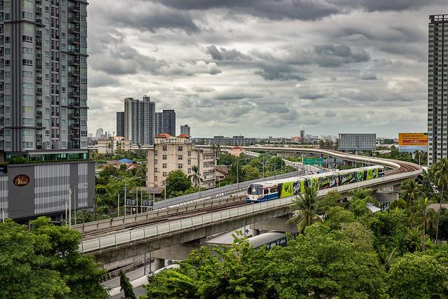 BTS Train Approaching Bang Wa Station, Bangkok