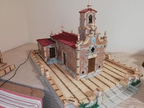 Capela de Santo António Silva Escura Maia Feita com fósforos por Manuel António Silva