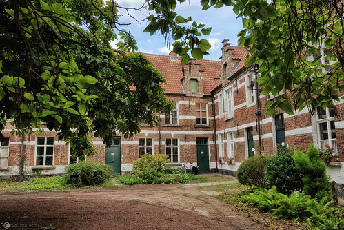 Some houses at the St Alexius Beguinage in Dendermonde, Belgium