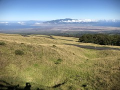 Looking down on the West Maui Mountains