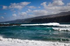 Surfin in Puerto de la Cruz