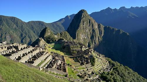 Morning postcard of Machu Picchu