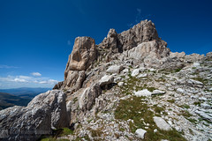 MONTE CORVO per la cresta ovest (Gran Sasso)