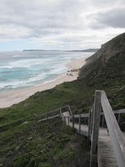 Back Beach Staircase - Lights Beach-Wind Farm Bicycle Trail, Denmark Western Australia