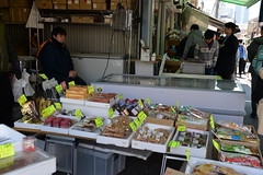 Mostly dried foods and condiments were on sale at Tsukiji