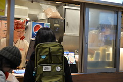 This single window eatery outside the Yodobashi store was doing brisk business