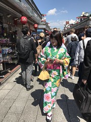 A Chinese girl in kimono- her face was so white that I nearly thought she was a geisha!